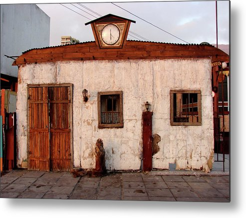 Iquique Metal Print featuring the photograph Iquique Chile Cantina by Brett Winn