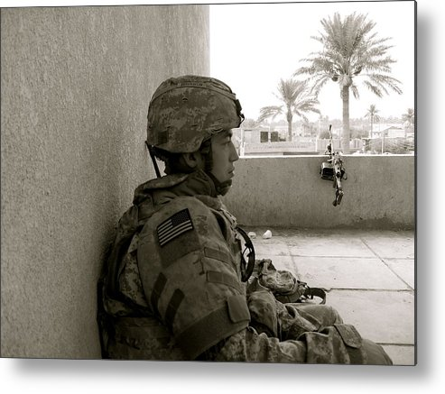 Portrait Metal Print featuring the photograph Iraq by Aimee Galicia Torres
