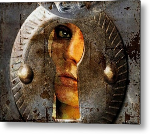 Isolation Metal Print featuring the digital art Is There Life Out There? by Ellen Cannon