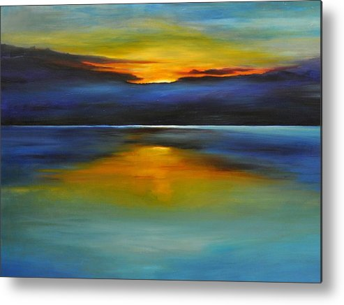 Sunset Metal Print featuring the painting Its Five Oclock Somewhere by Debbie Anderson