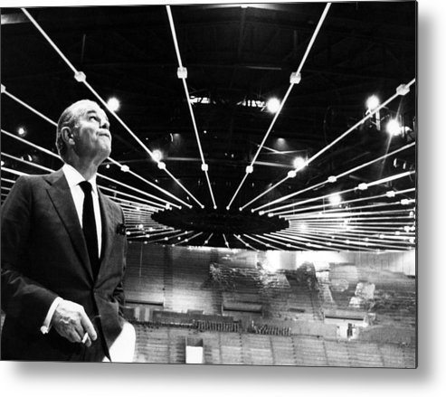 1960s Metal Print featuring the photograph Jack Kent Cooke In The Forum Sports by Everett