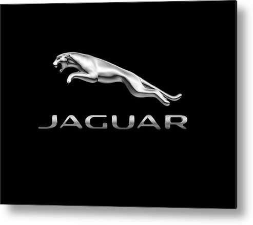 Jaguar Metal Print featuring the photograph Jaguar Logo by Ericamaxine Price