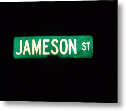 Street Sign Metal Print featuring the photograph Jameson Street by Anna Villarreal Garbis