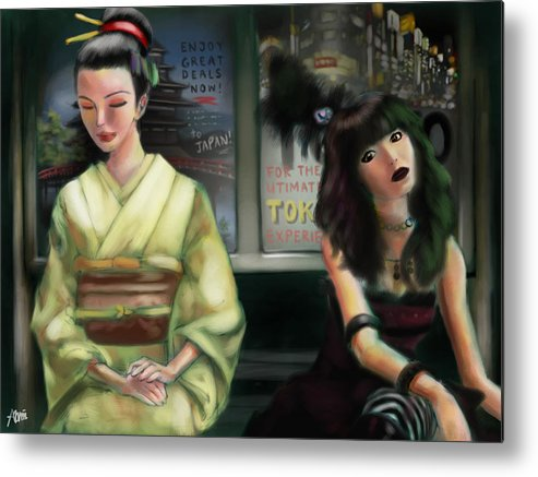 Japan Metal Print featuring the digital art Japanese Of Different Days by Alvin Goh