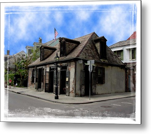 New Orleans Metal Print featuring the photograph Jean Lafitte The Blacksmith by Linda Kish