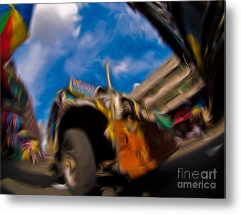 Philippines Metal Print featuring the mixed media Jeepney 62932501 by Rolf Bertram