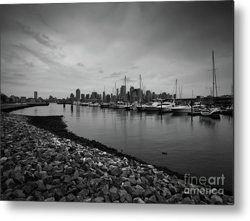 Yacht Club Metal Print featuring the photograph Jersey City Yacht Club by Valerie Morrison