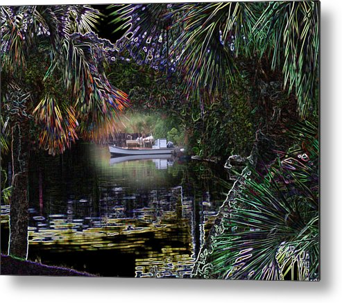 Boat Metal Print featuring the photograph Jungle Glow by Rick McKinney