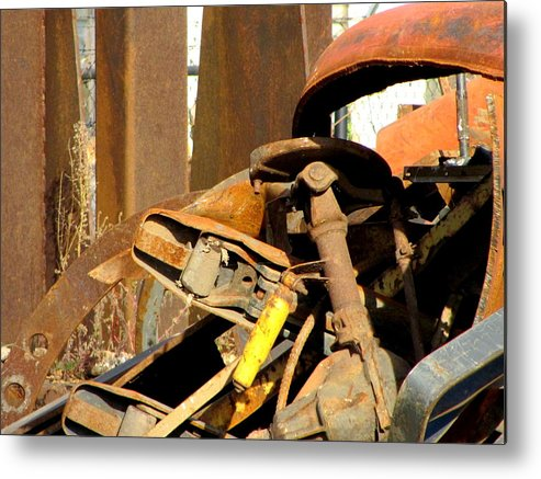 Photo Metal Print featuring the photograph Junk 15 by Anita Burgermeister