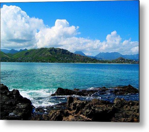 Ocean Metal Print featuring the photograph Kailua Bay Hawaii by Dan Pyle