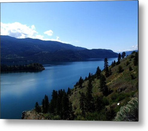 Lake Metal Print featuring the photograph Kalamalka Lake by Tiffany Vest