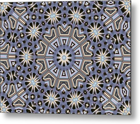 Kaleidoscope Metal Print featuring the digital art Kaleidoscope 104 by Ron Bissett