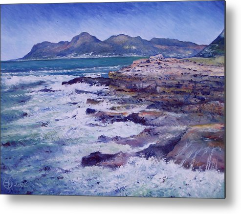 Kalk Bay South Africa Metal Print featuring the painting Kalk Bay And Fish Hoek Cape Town South Africa 2006 by Enver Larney