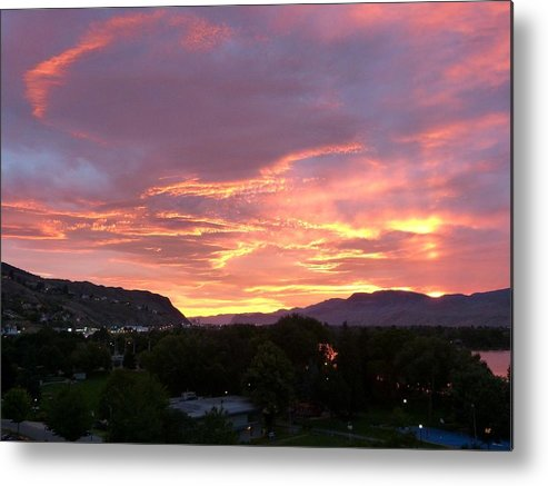 Sunset Metal Print featuring the photograph Kamloops Sunset 2 by Will Borden