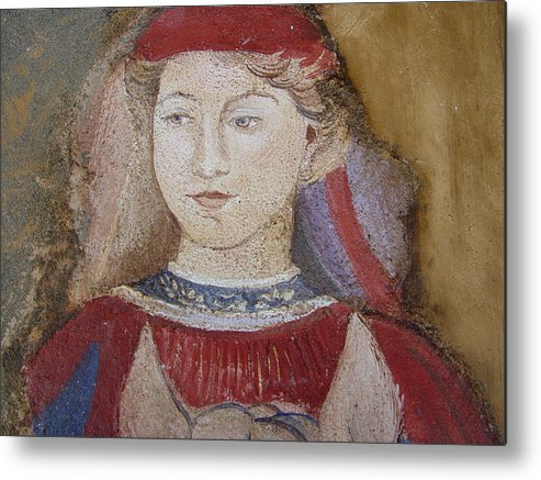 Fresco Metal Print featuring the painting Knight by Maria Grazia Repetto