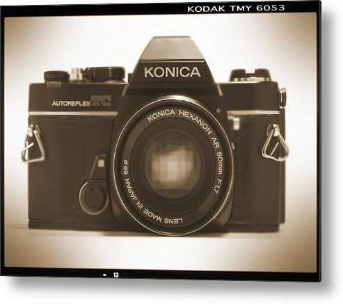 Vintage Film Camera Metal Print featuring the photograph Konica Tc 35mm Camera by Mike McGlothlen