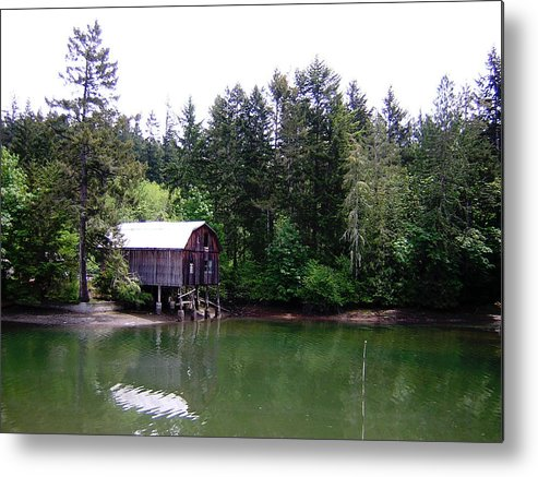 Water Metal Print featuring the photograph Lakebay Green Water by Valerie Josi