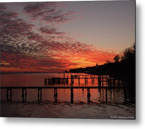 Sunset Metal Print featuring the photograph Late In The Day by Nicole I Hamilton