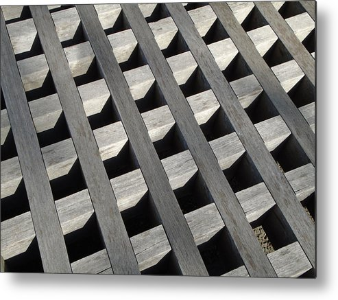 Lattice Metal Print featuring the photograph Lattice by Anthony Schafer