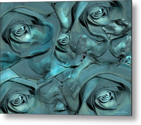 Roses Metal Print featuring the digital art Layers by Sabine Stetson