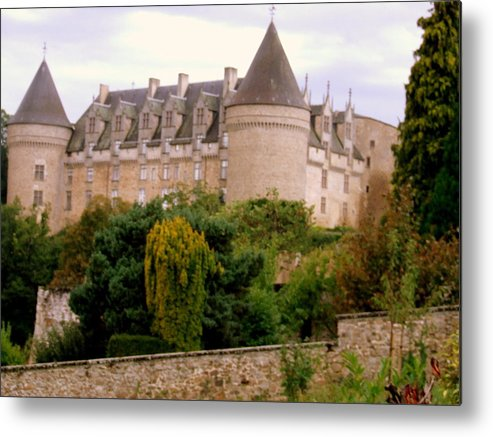Metal Print featuring the photograph Le Chateau De Rochechouart by Rusty Gladdish