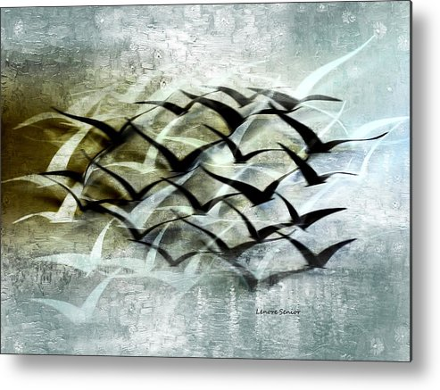 Abstract Metal Print featuring the digital art Lifted Spirits by Lenore Senior