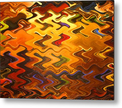 Digital Metal Print featuring the painting Light Rising by Vicky Brago-Mitchell