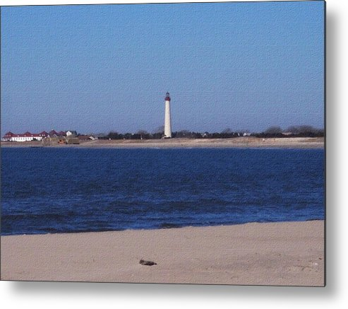 Lighthouse Metal Print featuring the photograph Lighthouse At The Point by Pharris Art