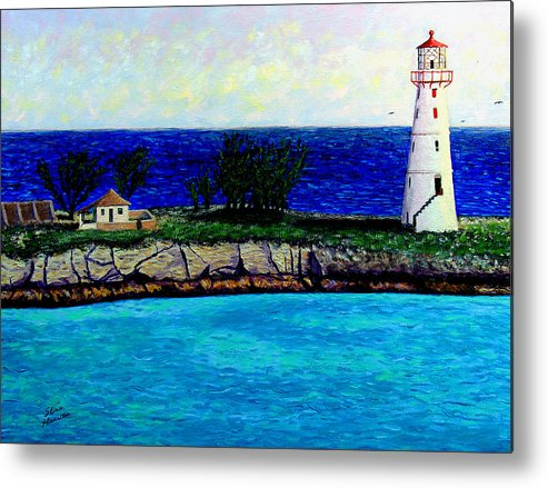 Lighthouse Metal Print featuring the painting Lighthouse IIi by Stan Hamilton