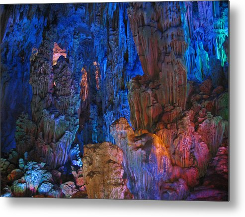 Colors Metal Print featuring the photograph Lights In A Cave by Angela Siener