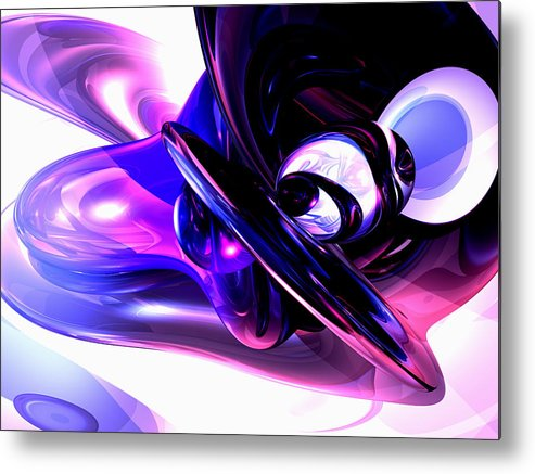 3d Metal Print featuring the digital art Lilac Fantasy Abstract by Alexander Butler