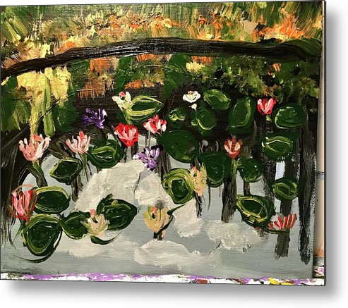 Lily Metal Print featuring the painting Lilies by Richard Dalton