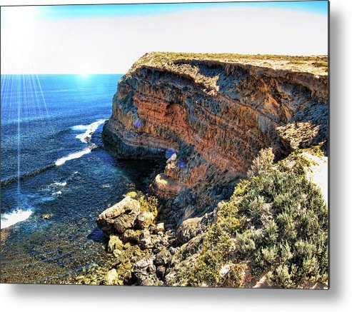 Cliff Metal Print featuring the photograph Limestone Cliff by Douglas Barnard