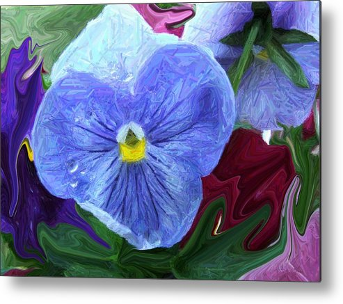 Flower Metal Print featuring the photograph Little Blues by Jim Darnall