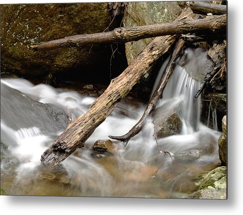 Log Metal Print featuring the photograph Logs In Stream by Jim DeLillo