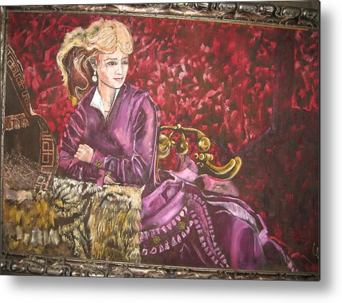 Actress Singer Dancer Old West Metal Print featuring the painting Lola Montez by Lila Witt Locati