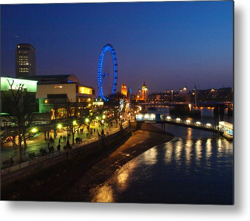 London Metal Print featuring the photograph London By Night by Michael OBrien