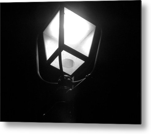 Street Lamp Metal Print featuring the photograph Lone Beacon by Mike Norkin