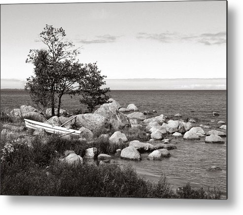 Boat Metal Print featuring the photograph Lonely Boat by Eazudesign