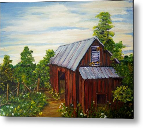 Landscape Metal Print featuring the painting Long Forgotten by Patricia R Moore