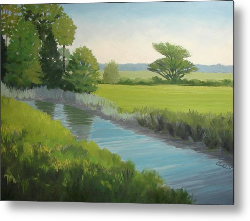 Landscape Metal Print featuring the painting Longs Creek by Robert Rohrich