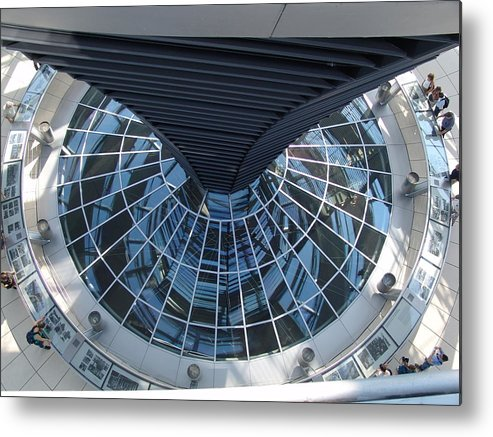 Reichstag Metal Print featuring the photograph Looking Down The Reichstag Berlin by Kevin Callahan