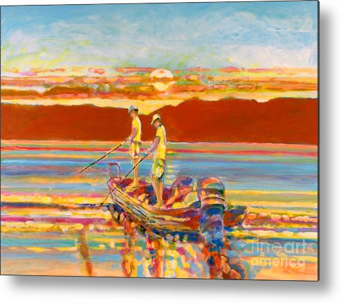 Fishing Metal Print featuring the painting Looking For The Big One by Kip Decker