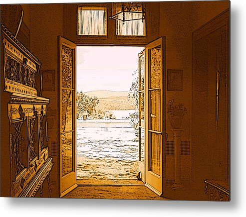 Hudson River Metal Print featuring the photograph Looking Out To The Hudson River by Susan Grissom