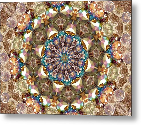 Kaleidoscope Metal Print featuring the photograph Looking Through The Kaleidoscope by Yvette Pichette