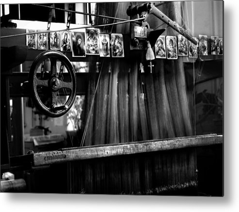 Loom Metal Print featuring the photograph Loom With Prayer Cards by Todd Fox