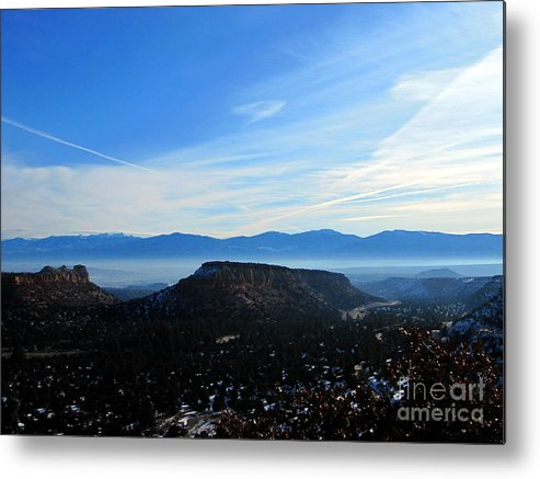 Snow Metal Print featuring the photograph Los Alamos by Matthew Griffin