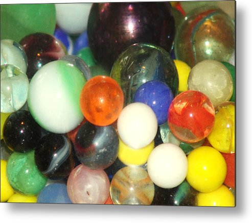 Marbles Metal Print featuring the photograph Lost Your Marbles by Kevin Callahan