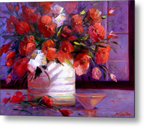 Floral Metal Print featuring the painting Love You Susi  by Gail Salitui