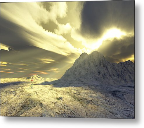 Loved Metal Print featuring the digital art Loved - Never Forgotten by Jennifer Kathleen Phillips